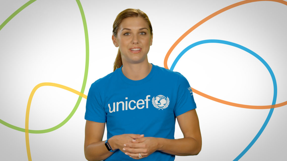 sports shoes 797bd 234ea Alex Morgan's Global Mission - UNICEF Kid Power